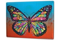 Tin Sign XXL Butterfly Species Colorful Butterfly