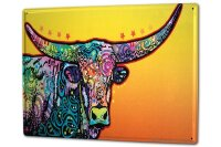 Tin Sign XXL Ravtive Vet Practice Colourful beef