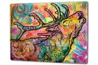 Tin Sign XXL Ravtive Vet Practice Colorful deer