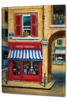 Tin Sign XXL Holiday Travel Agency France bookshop