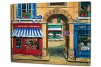 Tin Sign XXL Holiday Travel Agency France Butcher Cafe
