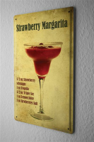 Blechschild Bar Party strawberry Margarita