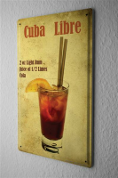 Blechschild Bar Party Cuba Libre