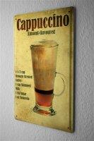 Blechschild Nostalgie Alkohol Retro Cocktail Cappuccino