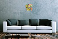 Wall Clock Feng Shui Picture Graphics Decorative Acrylglass