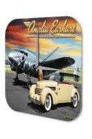 Travel Airport Decorative Wall Clock Classic car airplane...