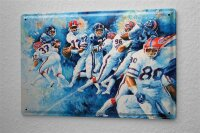 H. L. Koehler Blechschild Bar Restaurant Deko Football Quarterback Metall Wand Schild 20X30 cm