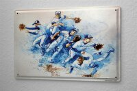 H. L. Koehler Blechschild Wand Küchen Deko Baseball Pitcher Metallschild 20X30 cm