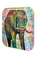 Wall Clock Vintage Decor Elephant Zoo Elephant Acrylglass