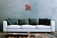 Wall Clock Nursery Animal Elephant Colourful elephant...