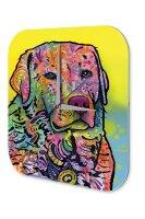 Wall Clock Animal Shelter Labrador Printed Acryl Acrylglass