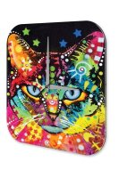 Wall Clock Cat Colorful cat Printed Acryl Acrylglas Retro