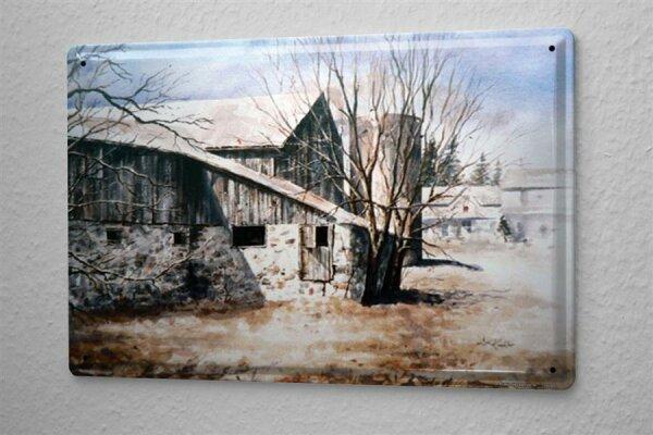 H. L. Koehler Blechschild Abenteurer Wand Deko Scheune Silo Metallschild 20X30 cm