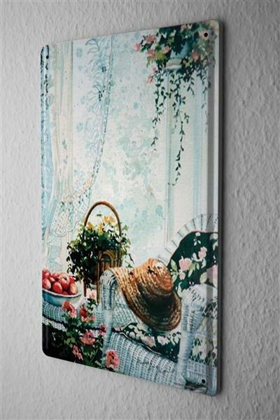 "H. L. Koehler Nostalgic Tin Sign Fruit bowl hat Wall Vintage Decoration 8X12"""