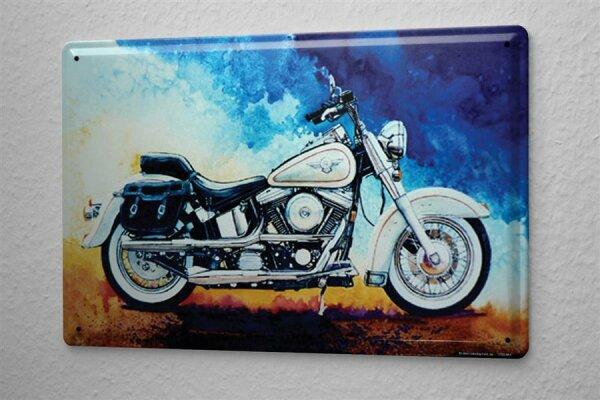 H. L. Koehler Blechschild Werkstatt Wand Motiv Seitenansicht  Metallschild 20X30 cm