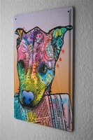 Tin Sign Animal Shelter Dog with newspaper