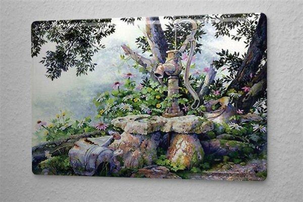 H. L. Koehler Blechschild Nostalgie Schild Wasserpumpe Blecheimer Wand Deko 20X30 cm