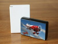 Pocket Windproof Lighter Brushed Oil Refillable Aircraft...