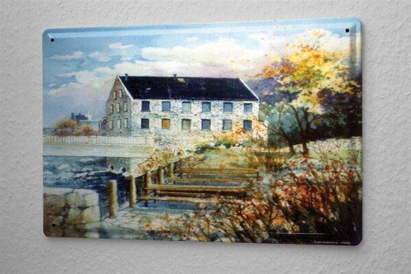 H. L. Koehler Blechschild Nostalgie Steinhaus Brücke Metallschild 20X30 cm