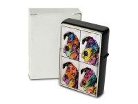 Pocket Windproof Lighter Brushed Oil Refillable Colorful...