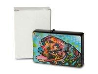 Pocket Windproof Lighter Brushed Oil Refillable colorful dog