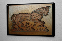 H. L. Koehler Tin Sign Cookie Cutter Horse Metal Plate 8X12