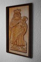 H. L. Koehler Blechschild Ausstechform Mutter Kind Wand Deko Metall Schild 20X30 cm