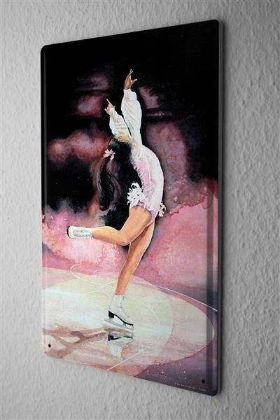 H. L. Koehler Blechschild Fun Wand Deko Schild Eiskunstlauf Tänzerin 20X30 cm