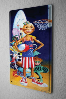 H. L. Koehler Fun Tin Sign Wall Decor Plate Basketball...