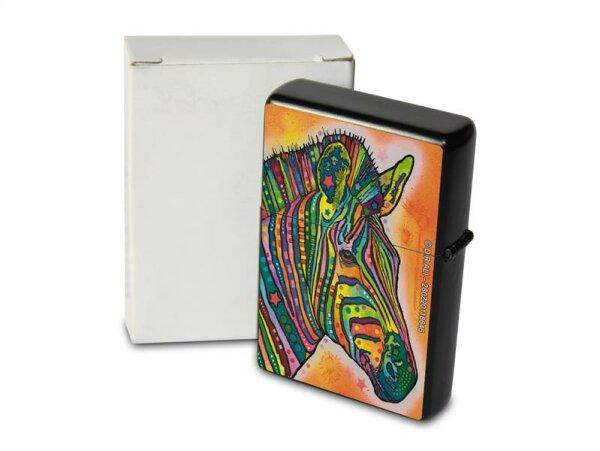 Pocket Windproof Lighter Brushed Oil Refillable Zebra colorful
