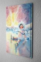 H. L. Koehler Blechschild Wand Küchen Deko Eskimo Schnee Metallschild 20X30 cm