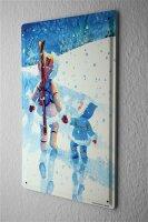 H. L. Koehler Blechschild Wand Küchen Deko Eskimo Wanderung Metallschild 20X30 cm