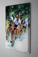 H. L. Koehler Blechschild Fun Wand Deko Schild Radfahrer Verfolgung 20X30 cm