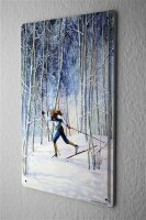 H. L. Koehler Sports Tin Sign cross-country skiing Metal...