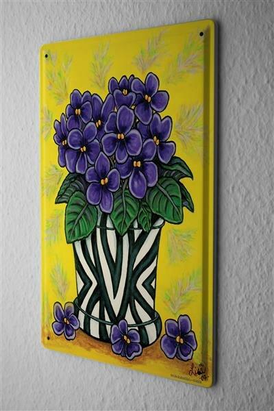 Tin Sign Flower Shop flower vase bouquet