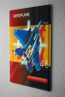 Tin Sign Shield Wall Decoration fighter jet missiles 8X12