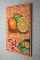 Tin Sign Food Restaurant Decoration Sweet Orange Juice...