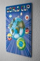 Blechschild Fun Wand Deko Schild Fußball Weltmeisterschaft 20X30 cm
