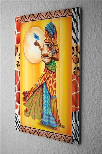 "Tin Sign Bar Restaurant Decoration Africa butterfly robe 8X12"""