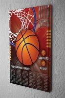 Blechschild Retro Deko Basketball Korb Profi Liga Metallschild 20X30 cm