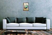 Blechschild Retro Motiv Weltfrieden Taube Metallschild 20X30 cm