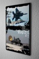 Blechschild Militär Kampfjet Krieg Wand Deko Schild...