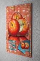 Tin Sign Food Restaurant Decoration Sweet Apple Juice...