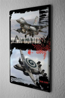Tin Sign Shield Wall Decoration Fighter jet radar...