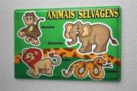 Decorative Tin Sign Vet Practice Wild Animals Lion...