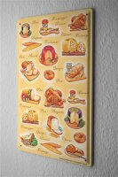 Tin Sign Food Restaurant Decoration Cheese bread France...