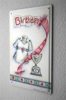 Tin Sign Fun Birthday Card Shield Birthday Cup jersey...