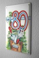 Tin Sign Birthday Congratulations 80 Happy Decorative...