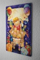Tin Sign Fun Birthday Card Shield Teddy Bear birthday...