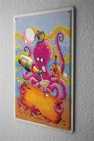 Tin Sign Birthday Congratulations Octopus celebration...